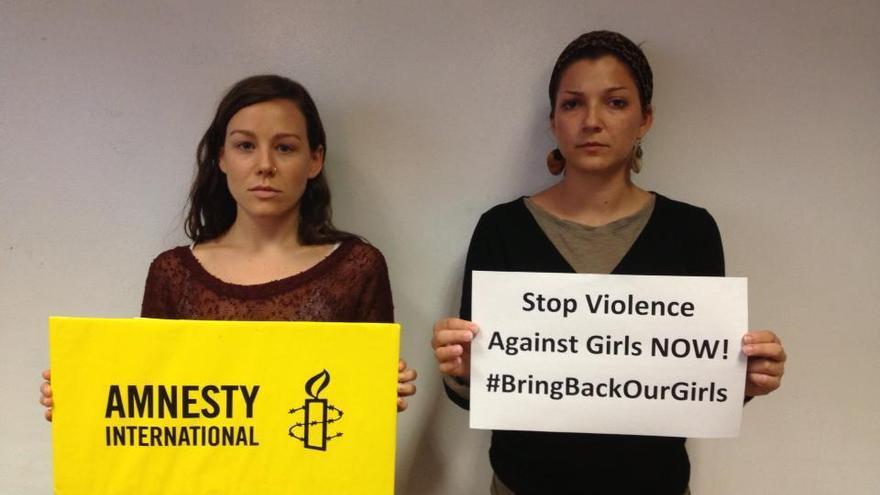 Imagen de la campaña Bring Bak Our Girls, promovida por Amnistía Internacional