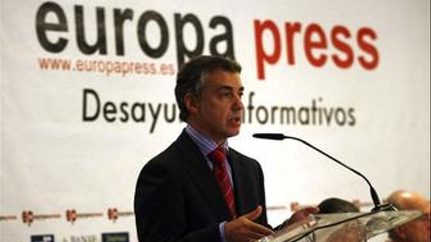 Urkullu en los desayunos de Europa Press