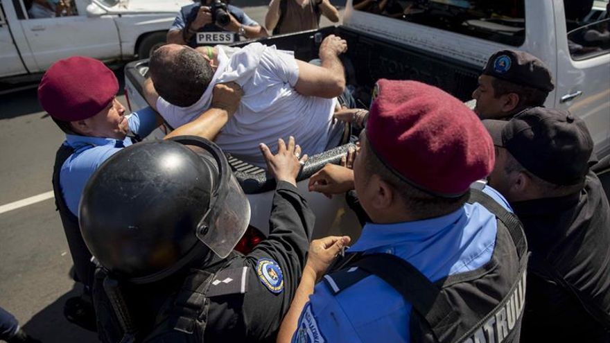La Policía de Nicaragua niega el permiso a una marcha en contra de la violencia