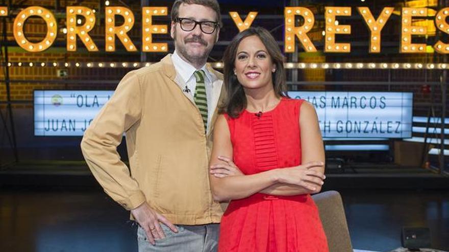 Joaquín y Mara en el plató de 'Torres y reyes' (Foto: TVE)