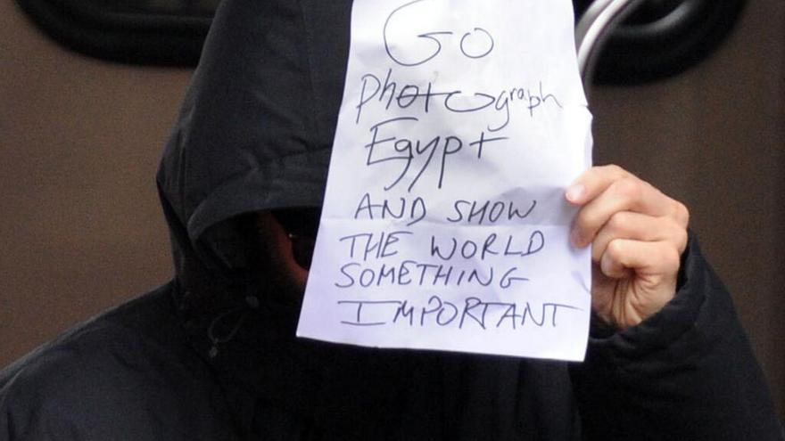 El actor mostró su apoyo a las víctimas de las revueltas egipcias