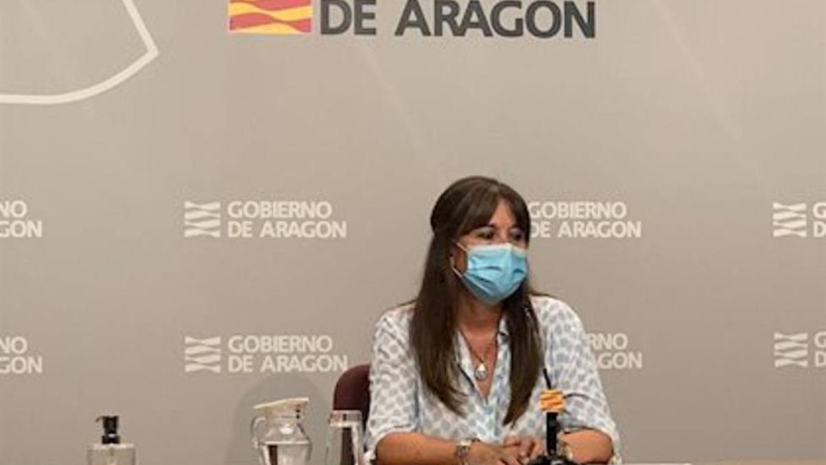 La consejera aragonesa de Sanidad, Sira Repollés.