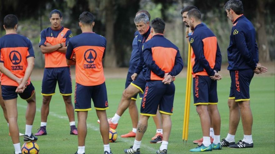 La UD Las Palmas volvió a entrenar este martes.
