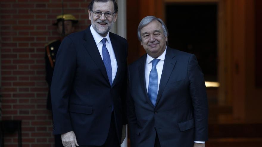 Guterres agradece a Rajoy el apoyo de España a su candidatura en la Secretaría General de la ONU