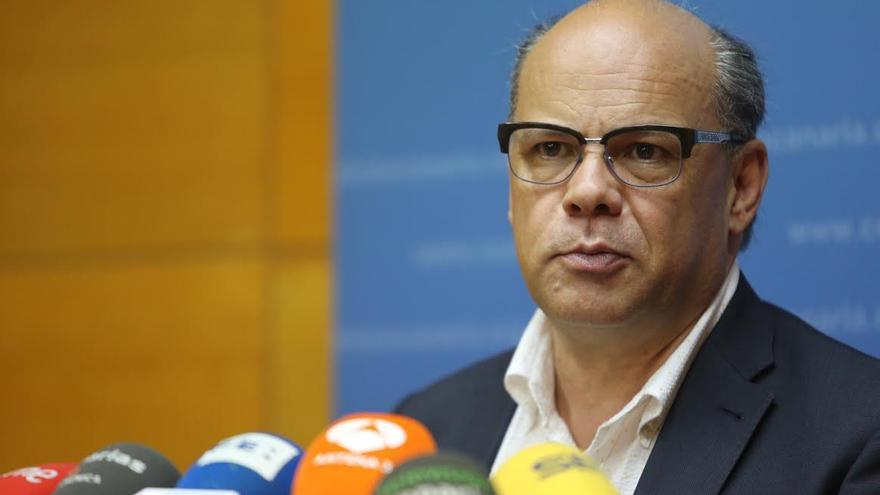 José Miguel Barragán, en la rueda de prensa ofrecida este lunes. (ALEJANDRO RAMOS)