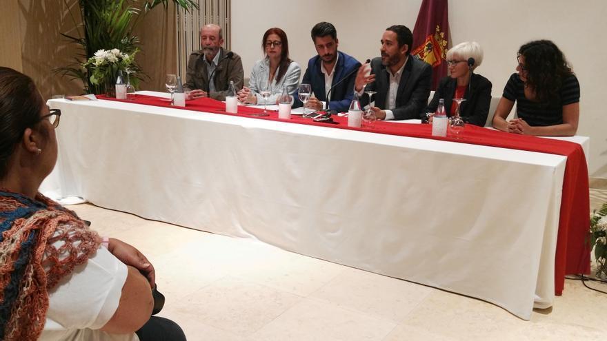 Los principales líderes de Avante La Laguna, PSOE y Unidas Se Puede, en la rúbrica del pacto de progreso este viernes