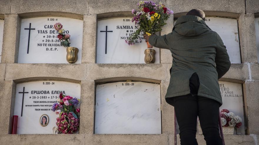 Homenaje a Samba Martine, cinco años después de su muerte en el CIE de Madrid por falta de asistencia médica.