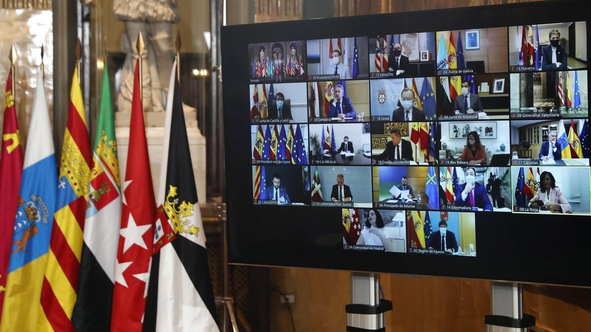 Los presidentes autonómicos durante una Conferencia de presidentes autonómicos. EFE/Chema Moya/Archivo