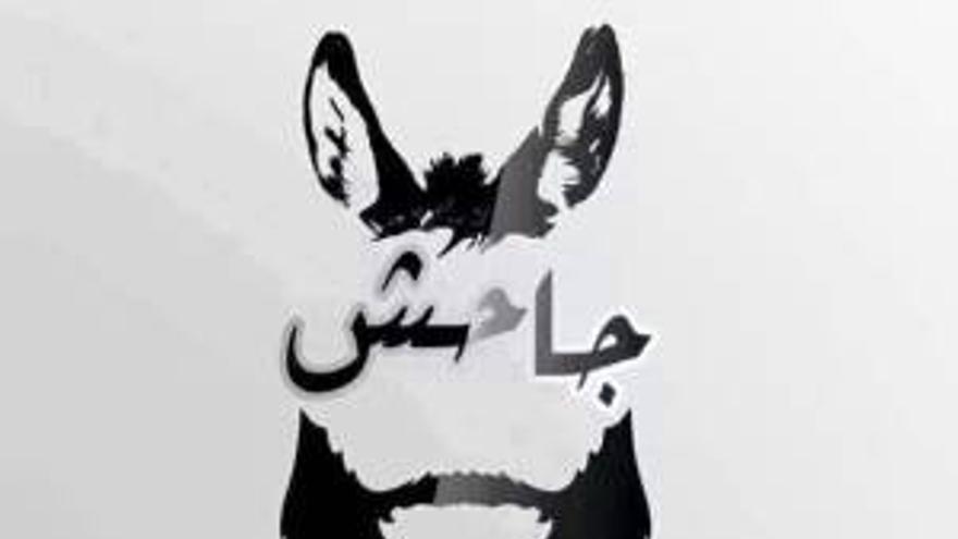 """Parodia del nombre de ISIS, """"el estado del burro de Irak y Siria"""". Fuente: Loonwatch"""