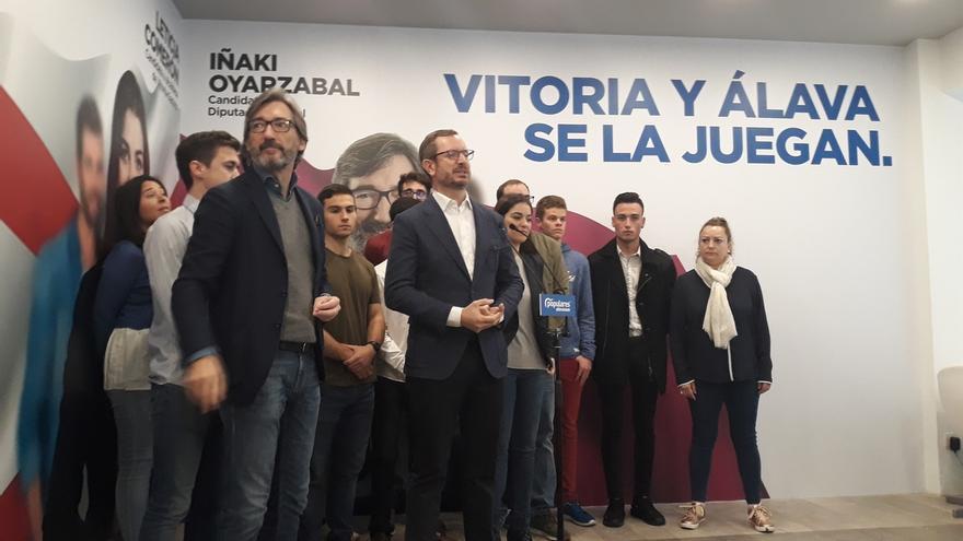 """Oyarzábal pide a los autónomos que voten al PP porque es el partido que les va a """"defender"""""""