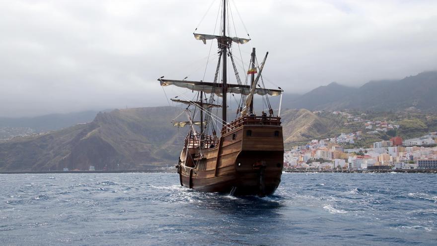 La nao Santa María llegó a la capital palmera sobre las 15:00 horas.