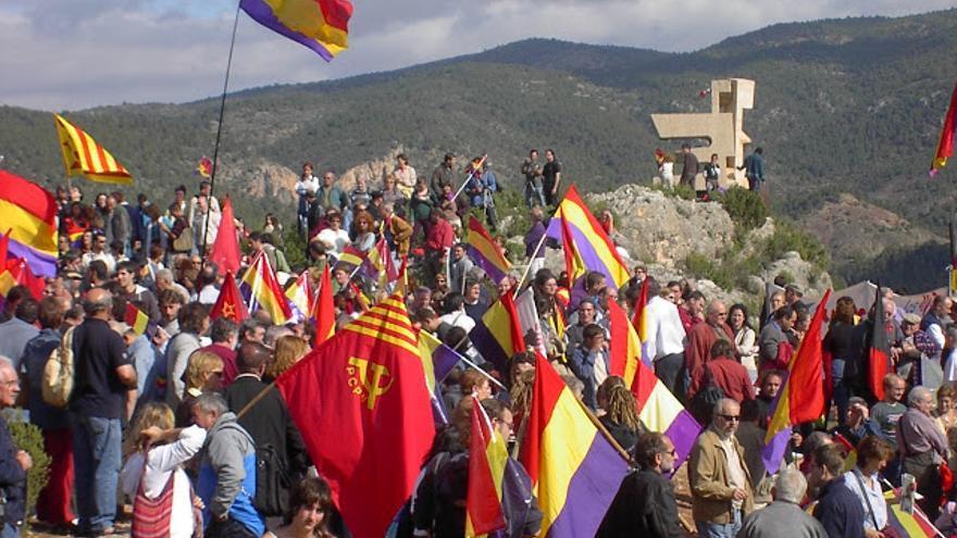 Homenaje al maquis antifranquista en Santa Cruz de Moya