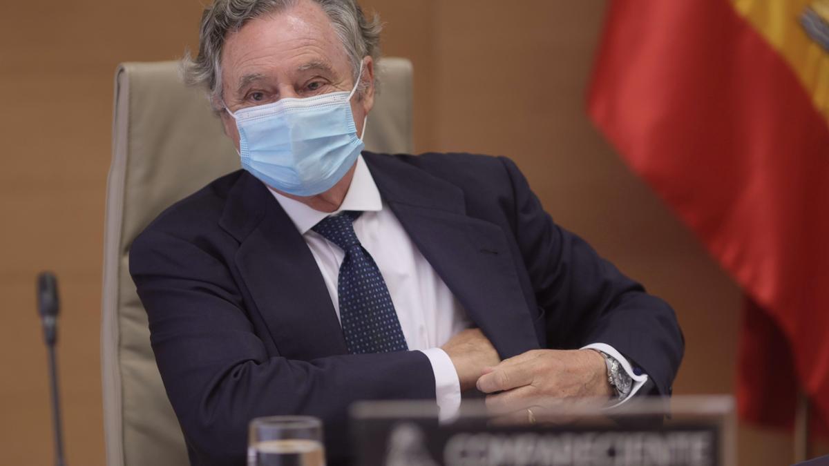 El empresario Ignacio López del Hierro a su llegada a la Comisión de Investigación sobre la operación Kitchen
