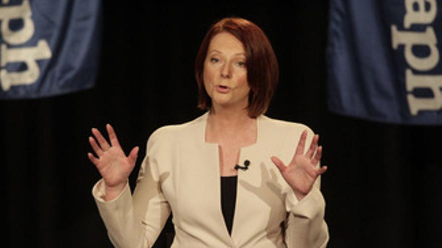 La primera ministra de Australia, Julia Gillard