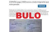 """""""Obligar a acoger a inmigrantes en casa"""" o """"darles 600 euros al mes"""": bulos sobre medidas políticas que nunca se han acordado"""