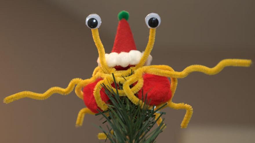 Adorno de un árbol de navidad pastafari