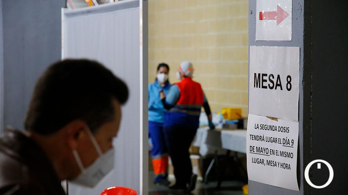 Vacunación de profesores en Vista Alegre