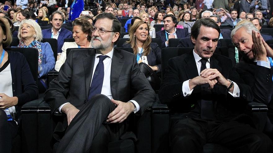 Los expresidentes del Gobierno Mariano Rajoy y José María Aznar.