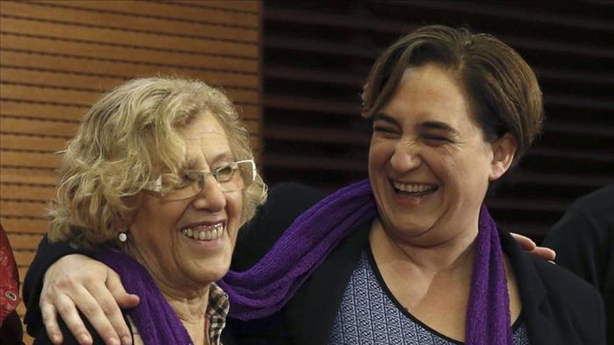Carmena y Colau piden respuestas ante la violencia machista que se tolera