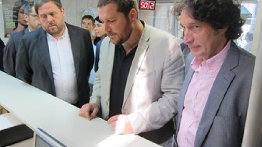 Oriol Junqueras, Marc Sanglas, Jordi Portabella (ERC)
