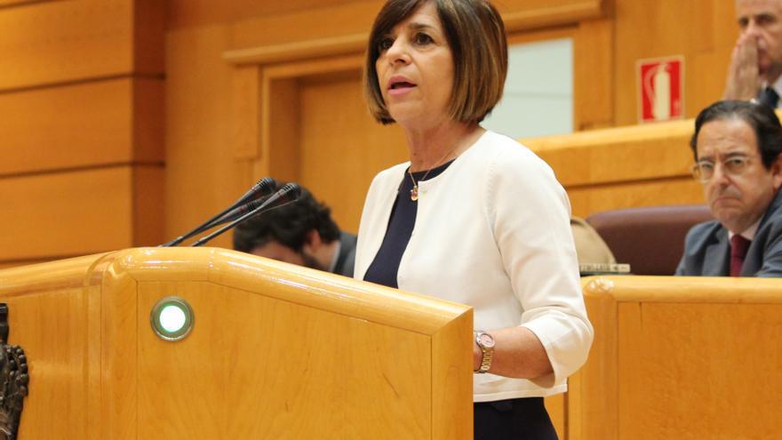 La senadora Carmen de Aragón durante una intervención parlamentaria
