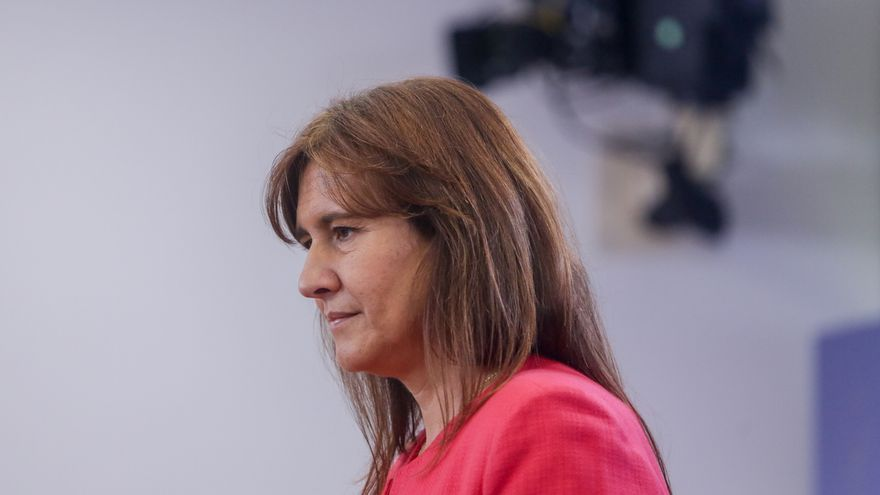 La portavoz de JxCat, Laura Borràs, este miércoles, en el Congreso.