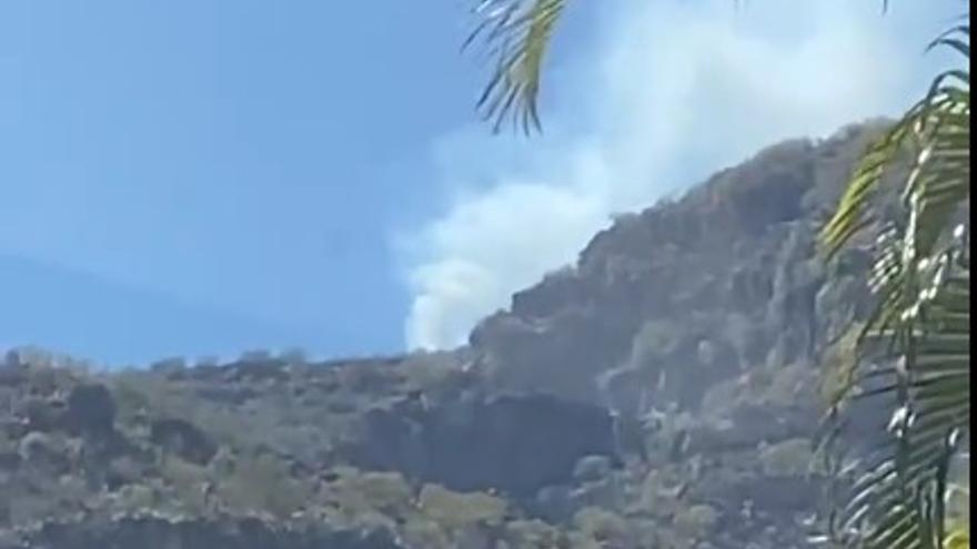 Declarado un incendio forestal en el municipio tinerfeño de Candelaria