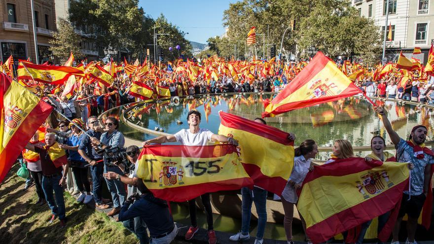 Manifestació de Societat Civil Catalana a Barcelona pro 155