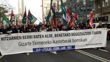 Manifestación de los docentes de la escuela concertada por las calles de Bilbao