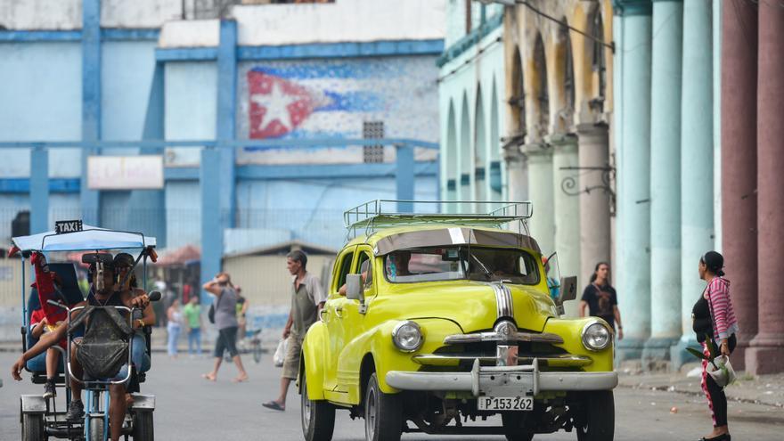 Una calle de La Habana pocas horas después de que se anunciara la muerte de Castro.