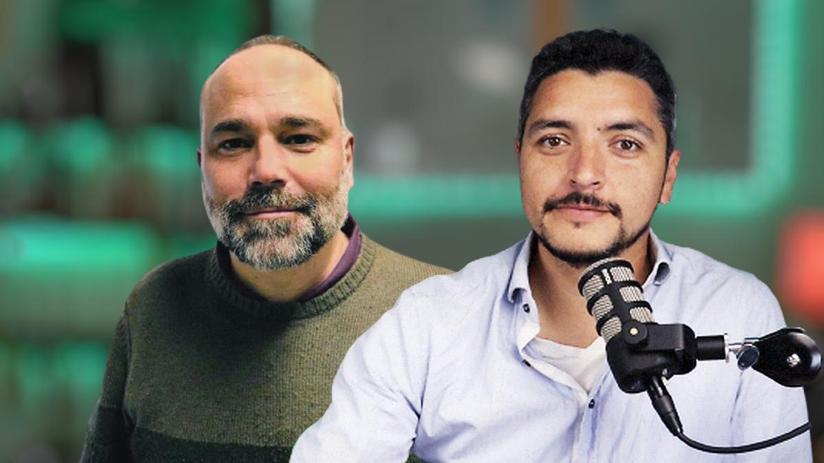 Raúl Gil Benito (izquierda) y Franco Delle Donne (derecha), coautores del podcast 'El fin de la era Merkel'.