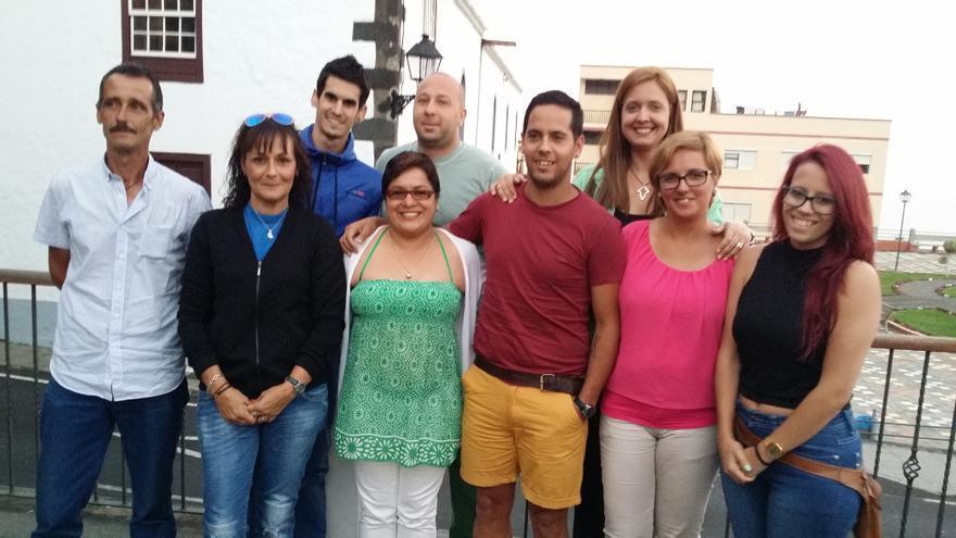 En la imagen, los miembros del comité local de NC en Breña Alta.