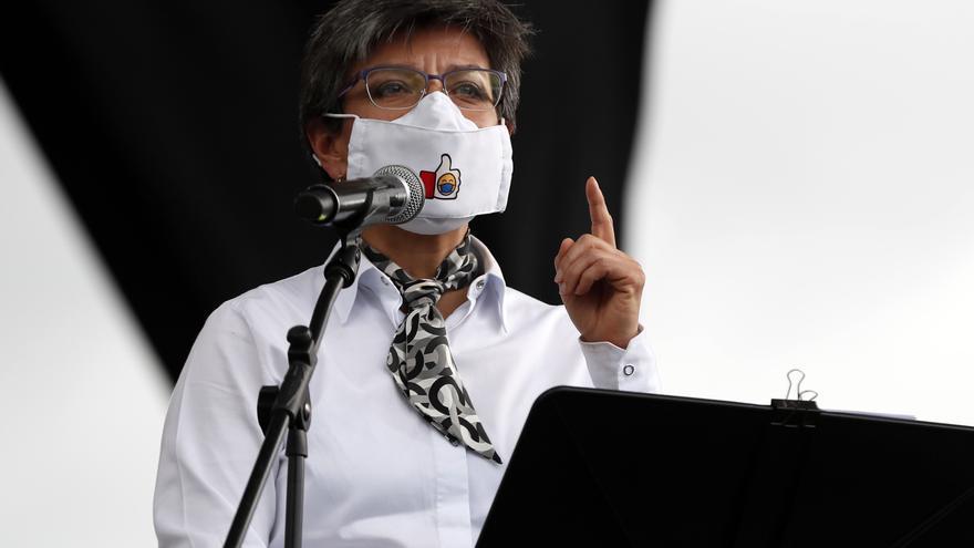 La alcaldesa de Bogotá decreta confinamiento de tres días a partir del sábado