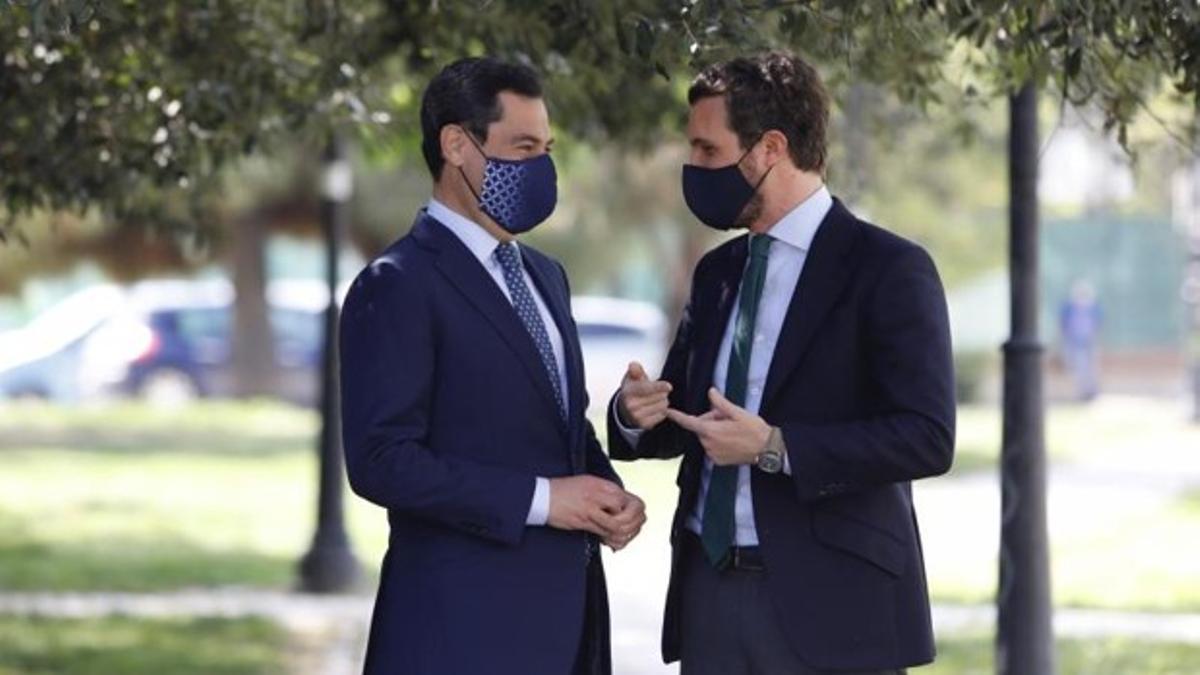 Pablo Casado conserva con Juan Manuel Moreno.