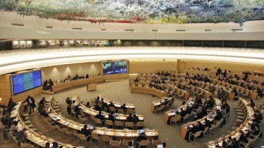 Sala del Consejo de Derechos Humanos de la ONU en una imagen de 2016