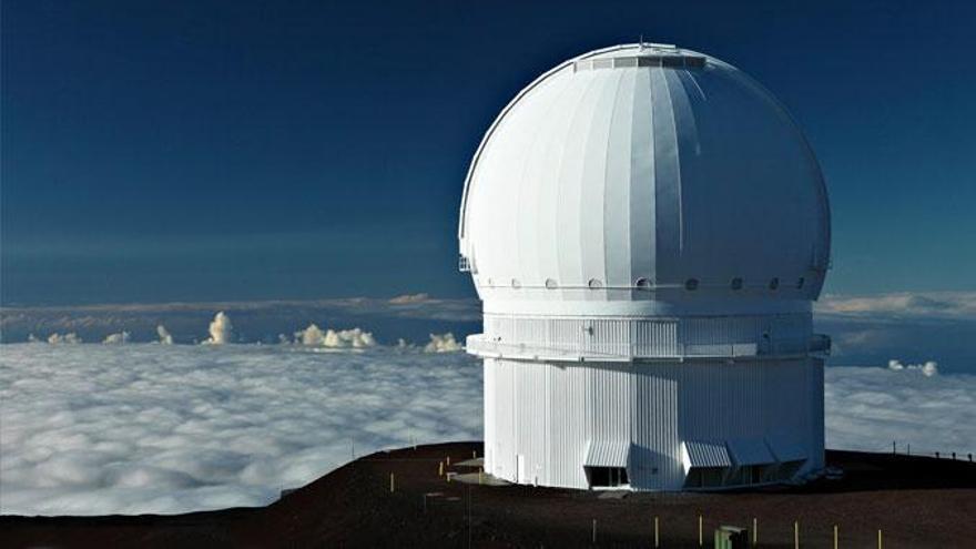 Telescopio Canadá-Francia-Hawai en el observatorio de Mauna Kea.
