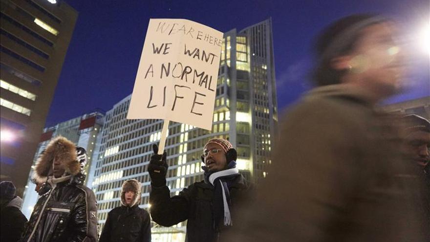 Un grupo de 60 demandantes de asilo se suma a una huelga de hambre en Holanda