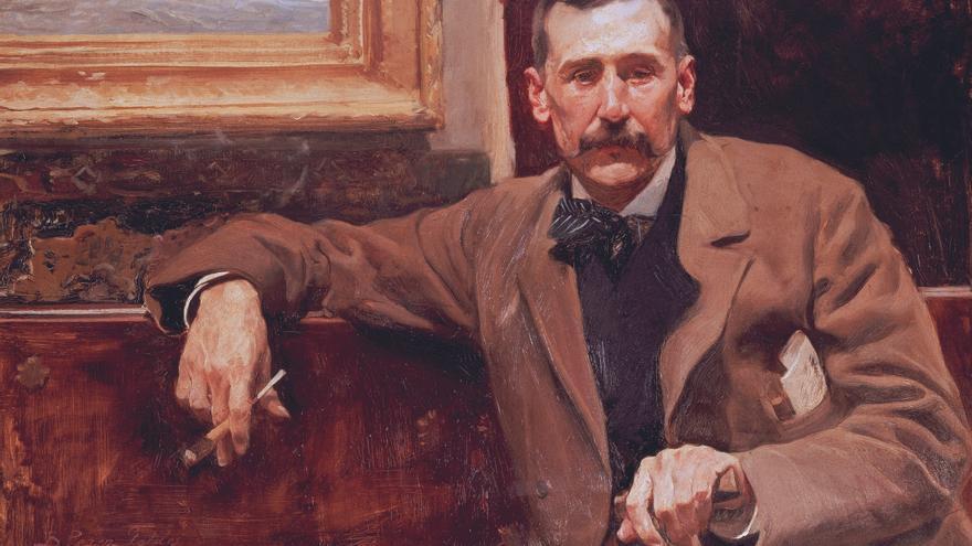 Cuadro que el pintor Joaquín Sorolla realizó de Benito Pérez Galdós en 1898, cuyo rostro fue estampado en los billetes de mil pesetas en 1978.