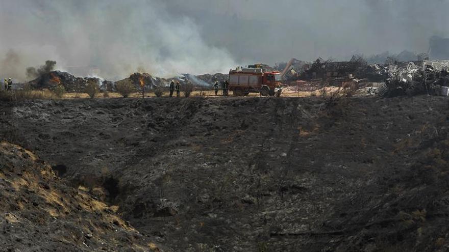 Incendio de la nave Chiloeches (Guadalajara)