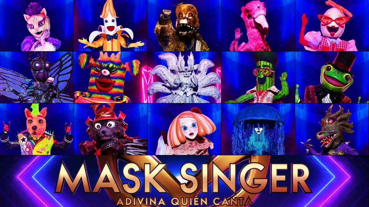 Las 15 máscaras de 'Mask Singer 2'
