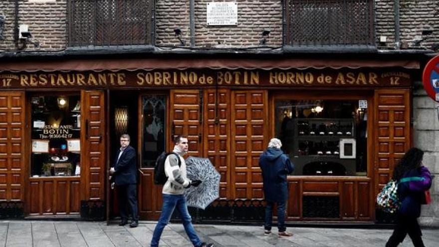 El restaurante Botín, que Pérez Galdós recuerda en su novela 'Fortunata y Jacinta'. EFE/Mariscal