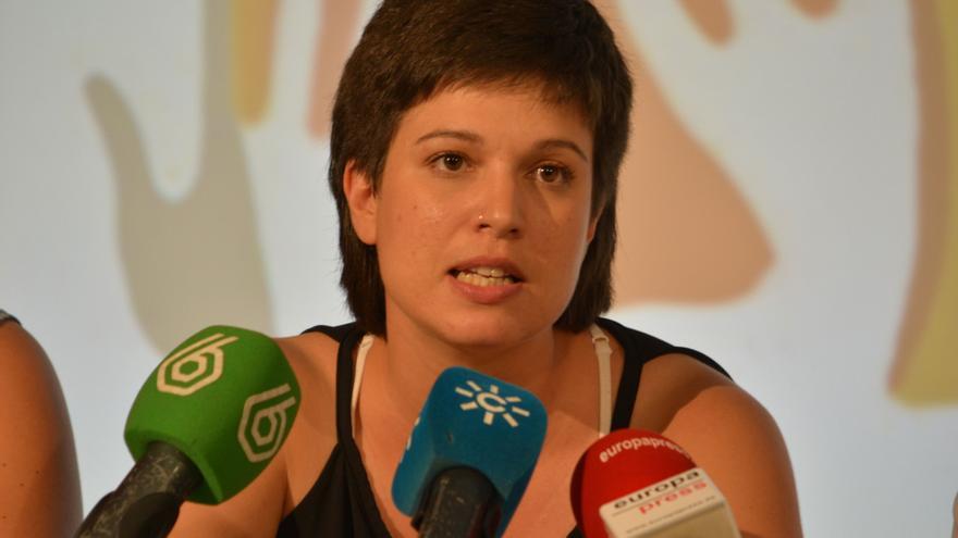 Beatriz Talegón en la presentación de Somos Izquierda / Foto: Agustín Millán