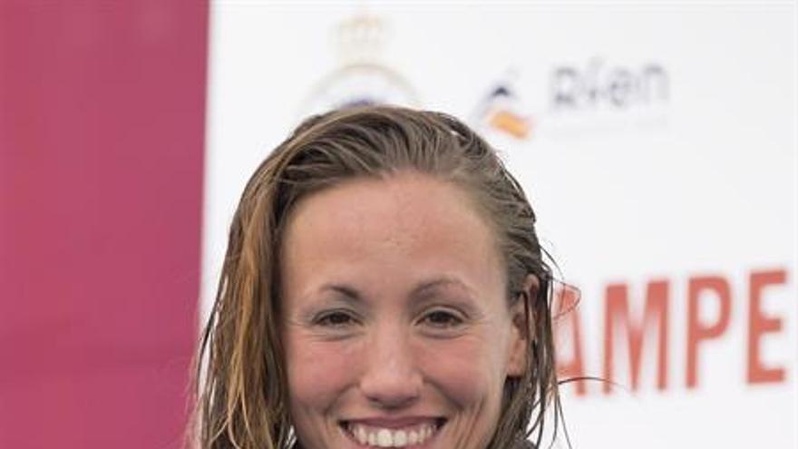 La nadadora del Club Natación Sant Andreu, Jessica Vall. EFE/Ángel Medina G.