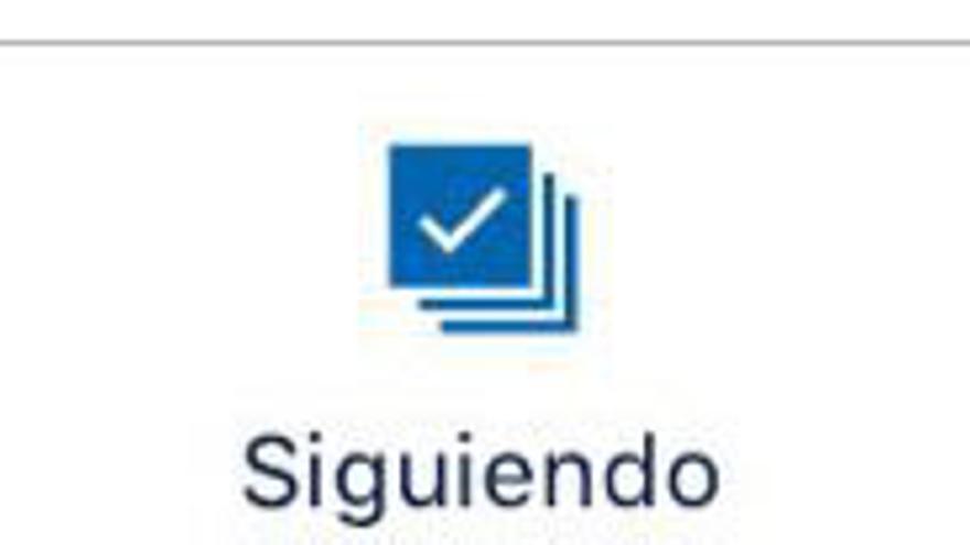 """Pestaña """"Siguiendo"""" de la app de eldiario.es"""