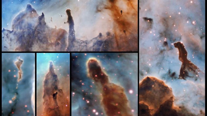 """Un equipo de astrónomos descubre """"pilares de destrucción"""" en la nebulosa Carina"""