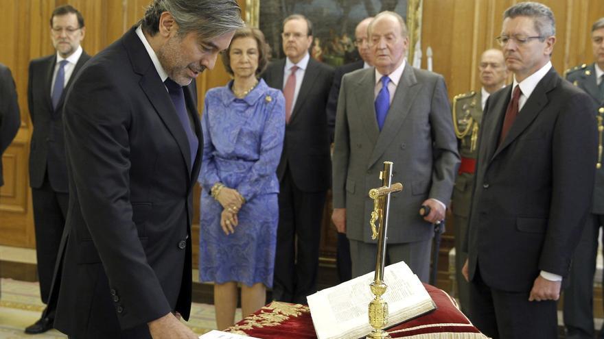 Enrique López, durante su toma de posesión como magistrado de Tribunal Constitucional.