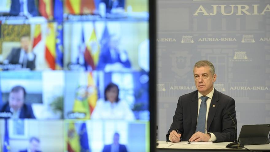 """Urkullu pide a Sánchez """"plena colaboración"""" del Estado para celebrar el 12J con """"seguridad y plenas garantías"""""""