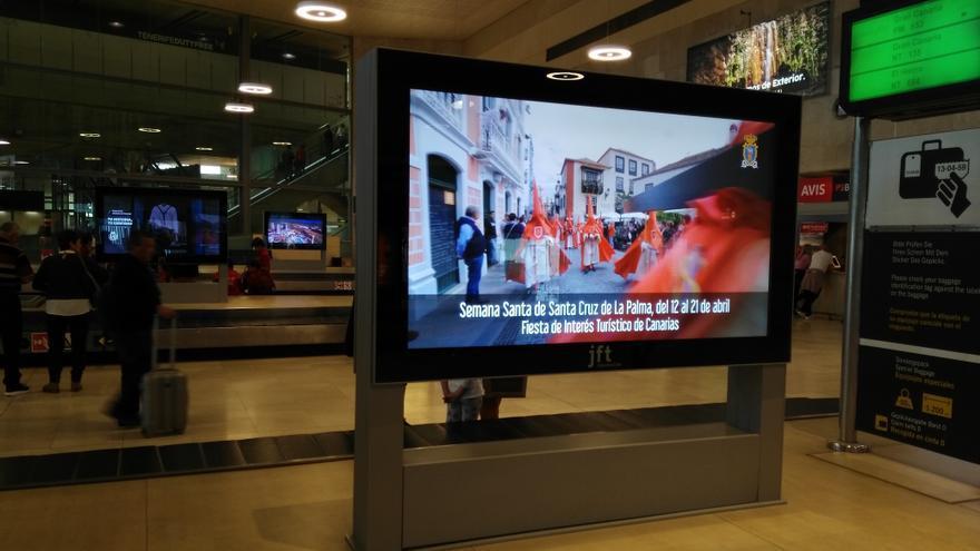 Imagen del vídeo en el aeropuerto de Los Rodeos.