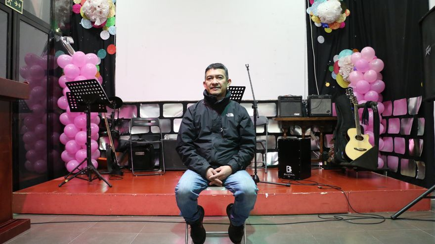 Gally, en el local de la Iglesia Jesús Reino Ministerio / P. R.