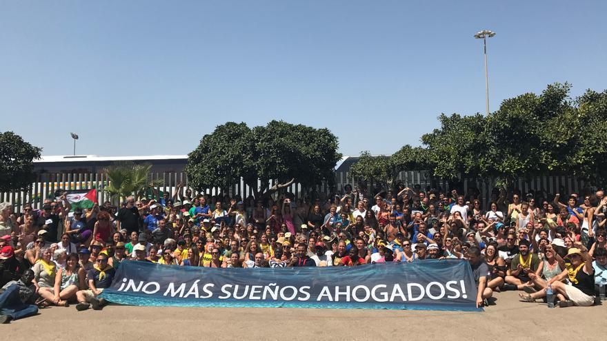 La 'Caravana abriendo fronteras', el año pasado en Melilla